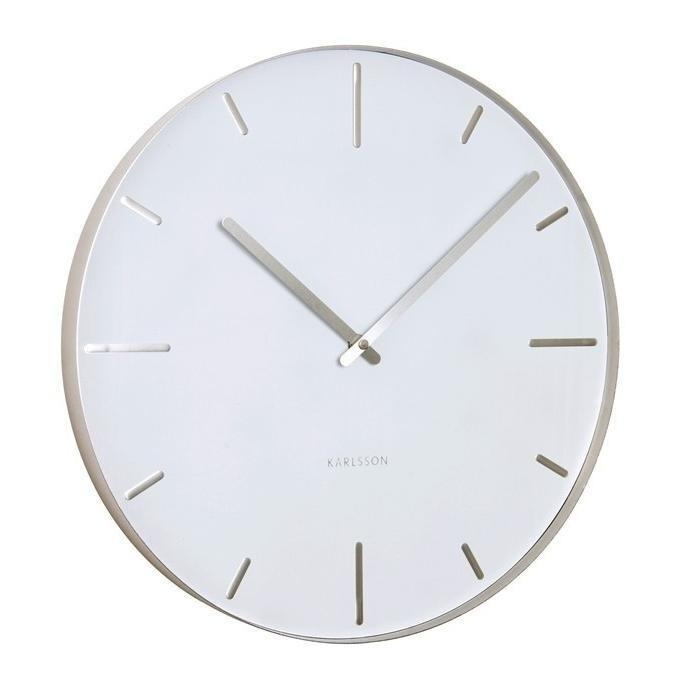 Designové nástěnné hodiny 5444WH Karlsson 40cm