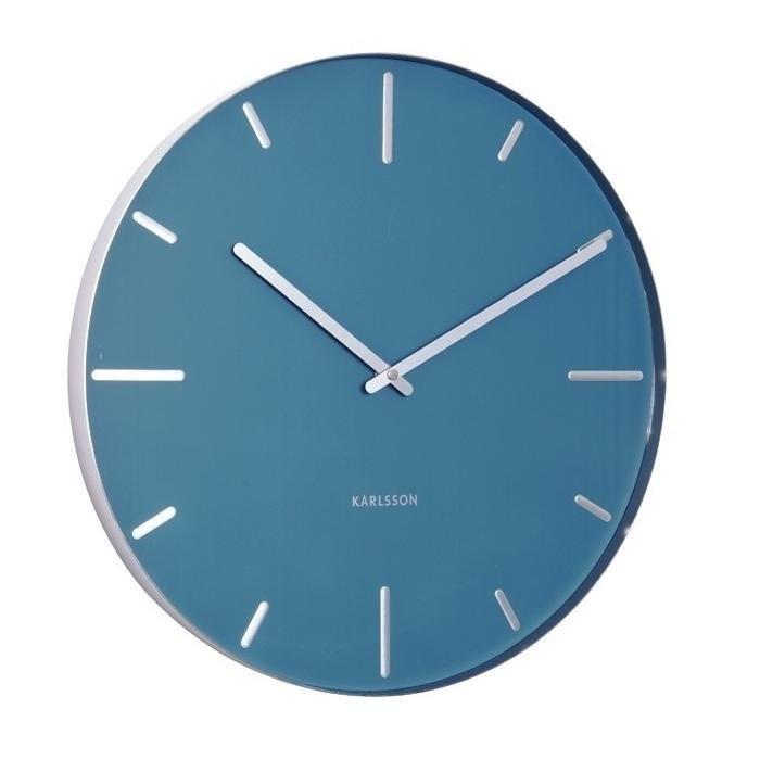 Designové nástěnné hodiny 5444BL Karlsson 40cm